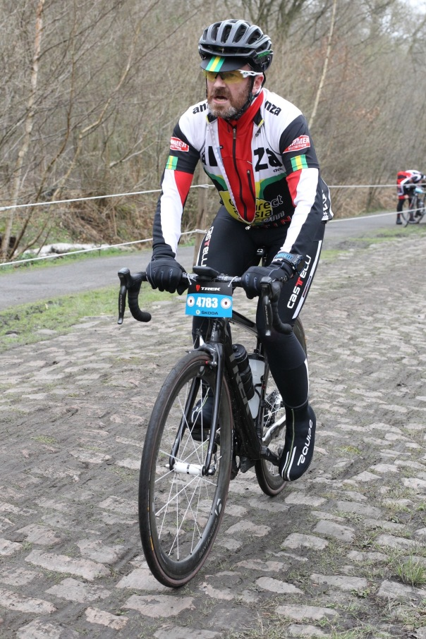 Grimacing for the camera on the Arenberg